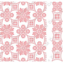 "Foulard Embossing Folder 4,25""x5,5"" Cricut Cuttlebug"