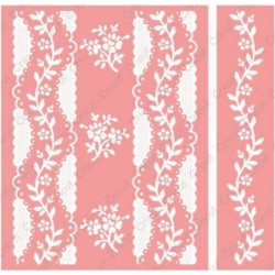 "Organdy Stripe Embossing Folder 4,25""x5,5"" Cricut Cuttlebug"