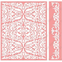 "Reflected Damask Embossing Folder 4,25""x5,5"" Cricut Cuttlebug"