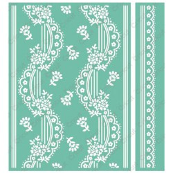 "Eyelet Stripe Embossing Folder 5""x7"" Cricut Cuttlebug"
