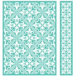 "Woven Diamonds Embossing Folder 5""x7"" Cricut Cuttlebug"