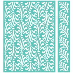 "Feather Illusion Embossing Folder 5""x7"" Cricut Cuttlebug"