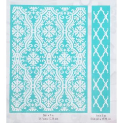 "Fluted Damask Embossing Folder 5""x7"" Cricut Cuttlebug"