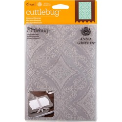 "Diamond Flourish Embossing Folder 5""x7"" Cricut Cuttlebug"