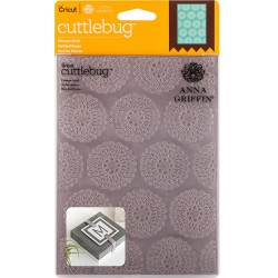 "Flower Grid Embossing Folder 5""x7"" Cricut Cuttlebug"