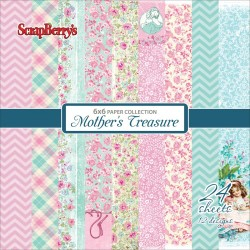 "Mother's Treasure Paper Pack 6""x6"" 24 Pkg Scrapberry's"