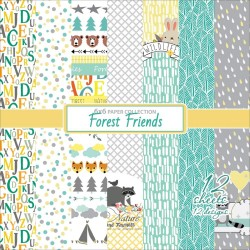 "Forest Friends Paper Pack 6""x6"" 12 Pkg Scrapberry's"