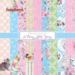 "A Furry Little Story Paper Pack 6""x6"" 12 Pkg Scrapberry's"