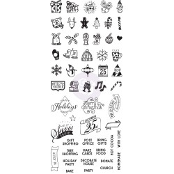 Christmas Planner Clear Stamps My Prima Planner Prima Marketing