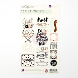 Scrap Phrase Stickers LOVE faith scrap My Prima Planner Embellishments Prima Marketing