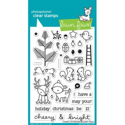 "Cheery Christmas Clear Stamp 4""x6"" Lawn Fawn"