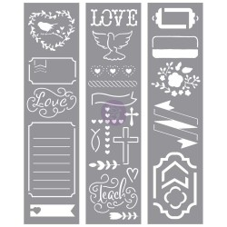 Stencil Strip LOVE faith scrap My Prima Planner Prima Marketing