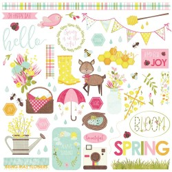 """Bloom Element Stickers 12""""x12"""" Photo Play"""
