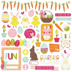 """Hoopy Taster Element Stickers 12""""x12"""" Photo Play"""