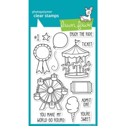 "Admit One Clear Stamp 4""x6"" Lawn Fawn"