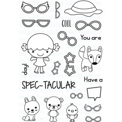 "Spec-Tacular Phoebe and Friends Clear Stamp 4""x6"" Your Next Stamp"