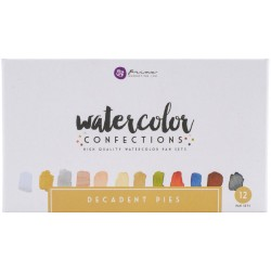 Decadent Pies Watercolor Confections Watercolor Pans Set 12 Pk Prima Marketing