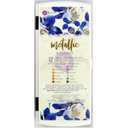 Metallic Accents Semi-Watercolor Paint Set 12 Pk Prima Marketing