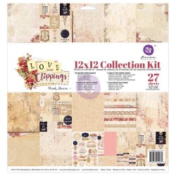 "Love Clippings Collection Kit 12""x12"" Prima Marketing"