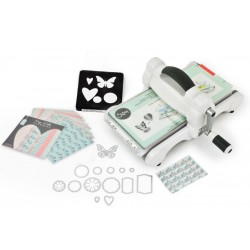 New Big Shot Starter Kit White & Gray Essential Kit for Shape-Cutting and Embossing