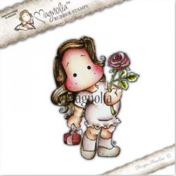 Timbro Lovely Rose Tilda Magnolia Rubber Stamp - RC17