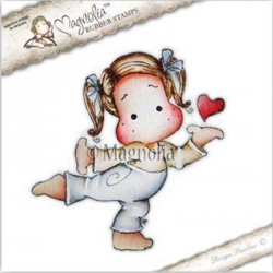Timbro Heart for You Tilda Magnolia Rubber Stamp - LE17