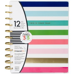 "Multi Bright Stripe w/This Is Your Year Create 365 12-Month Undated Planner 9,25""x11,5"" Me & My Big Ideas"