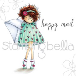 Timbro Tiny Townie Lacey has a Letter Stamping Bella Cling Rubber Stamp