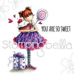 Timbro Tiny Townie Sammy is Sweet Stamping Bella Cling Rubber Stamp