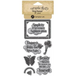 Timbri Portrait of Lady 1 Cling Stamps by Graphic45 Hampton Art