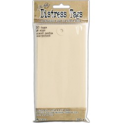 Distress Tags Size 8 Mixed Media Cardstock Heavystock 20 Tags