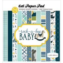 "Rock-A-Bye Baby Boy Paper Pad 6""x6"" Carta Bella"