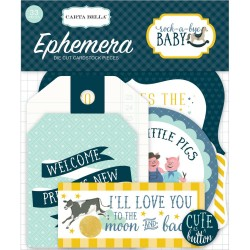 Rock-A-Bye Baby Boy Icons Ephemera Die Cut Cardstock Pieces Carta Bella