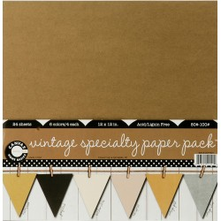 "Vintage Specialty 12""x12"" Paper Pack Canvas Corp"