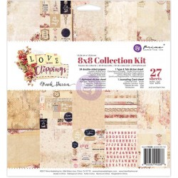 "Love Clippings Collection Kit 8""x8"" Prima Marketing"