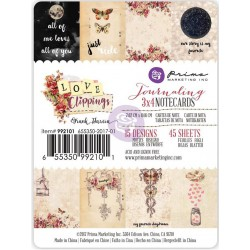 "Love Clippings Journaling Notecards 3""x4"" Prima Marketing"