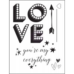 Love Clippings Cling Stamps Prima Marketing