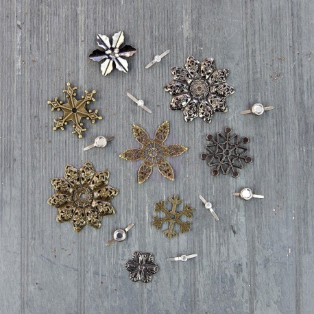 Winter Trinkets Mechanicals Metal Embellishments by Finnabair Prima Marketing