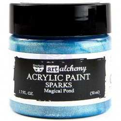 Magical Pond Sparks Acrylic Paint Art Alchemy by Finnabair Prima Marketing