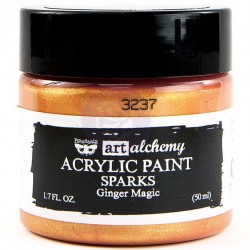 Ginger Magic Sparks Acrylic Paint Art Alchemy by Finnabair Prima Marketing
