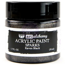 Raven Black Sparks Acrylic Paint Art Alchemy by Finnabair Prima Marketing