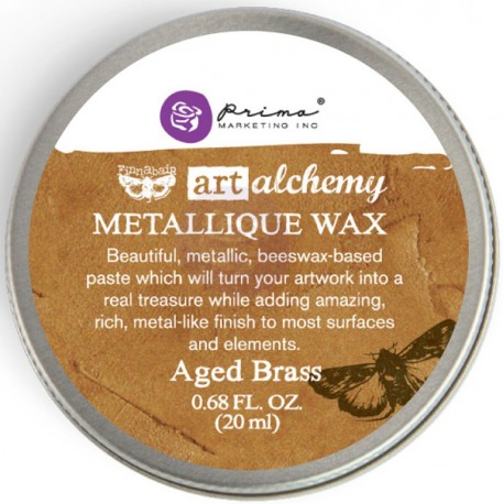 Aged Brass Metallique Wax Art Alchemy by Finnabair Prima Marketing