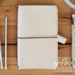 Natural Color Crush Faux Leather Traveler's Planner Webster's Pages