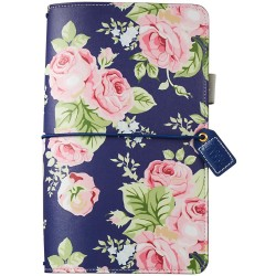 Navy Floral Color Crush Faux Leather Traveler's Planner Webster's Pages