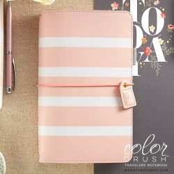 Blush Stripes Color Crush Faux Leather Traveler's Planner Webster's Pages