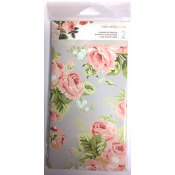 Love Stripe & Floral Planner Notebooks Standard Size 2 Pkg Webster's Pages