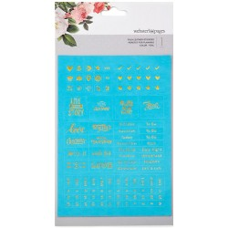 Teal Faux Leather Stickers Webster's Pages