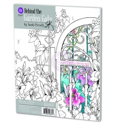 Behind the Garden Gate Multimedia Coloring Book Prima Marketing