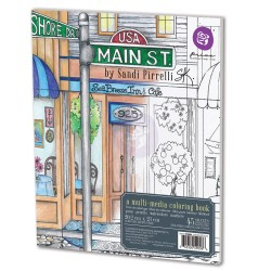 Main St. Multimedia Coloring Book Prima Marketing