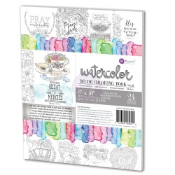Decor Coloring Book Vol. 3 Water Coloring Book Prima Marketing